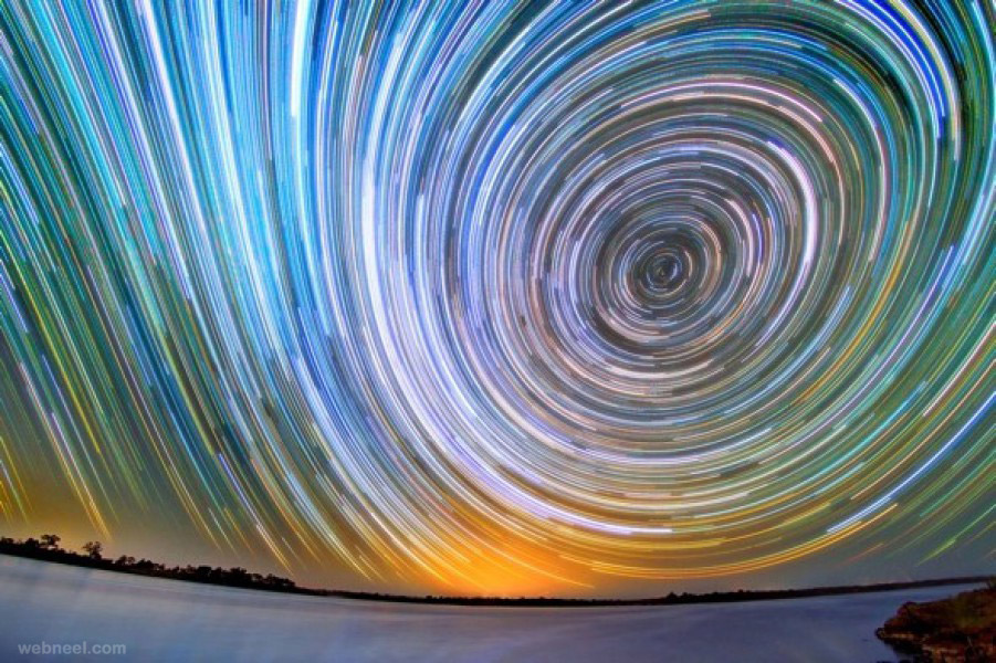 time lapse photography stars