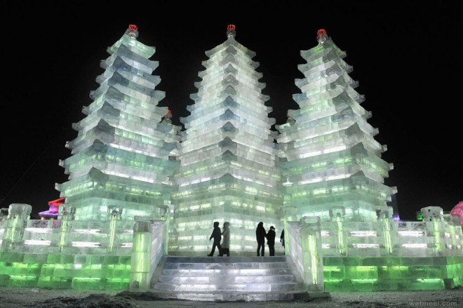 ice sculpture china castle