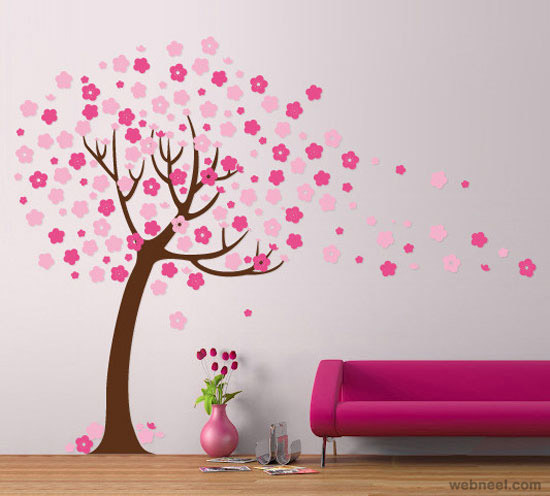 30 beautiful wall art ideas and diy wall paintings for your inspiration - Beautiful wall color and design ...
