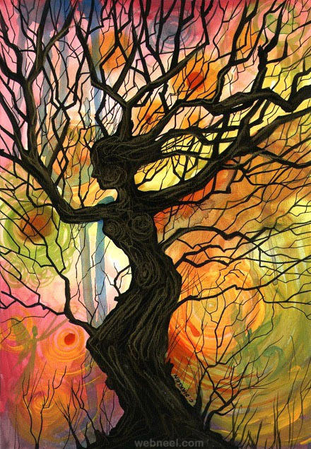 Stunning And Beautiful Tree Paintings For Your Inspiration