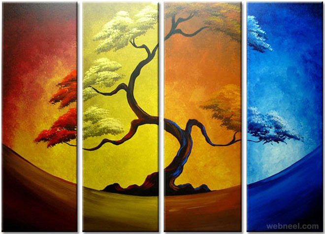 35 stunning and beautiful tree paintings for your inspiration for Different types of abstract art