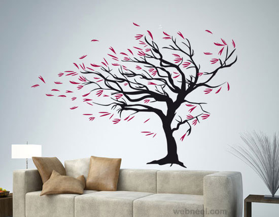 wall painting ideas for living room wall painting ideas - Design Of Wall Painting