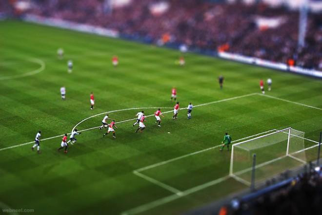 best tilt shift photography sports stadium