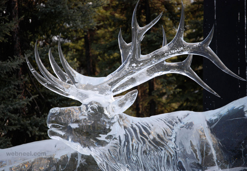 ice sculpture animal