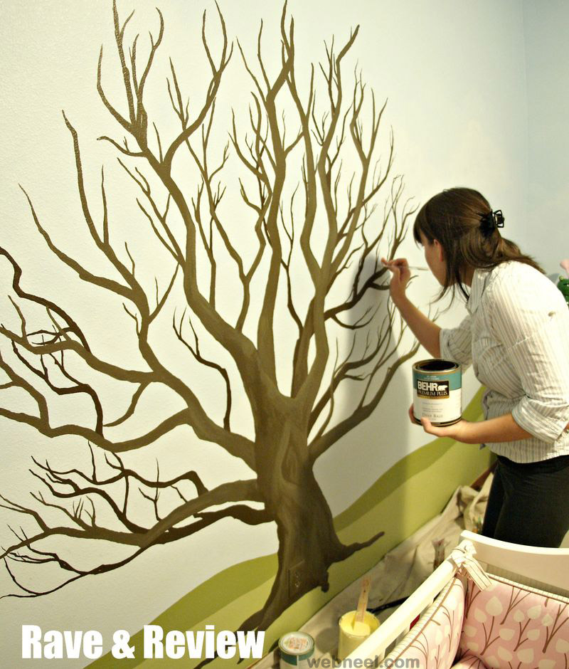 tree wall painting 27. Black Bedroom Furniture Sets. Home Design Ideas
