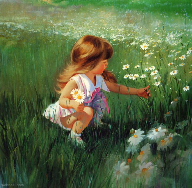 beautiful baby painting