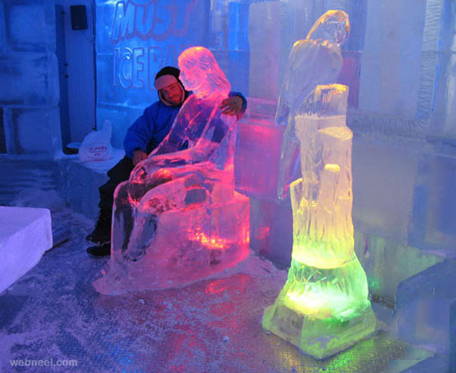 ice sculptures woman