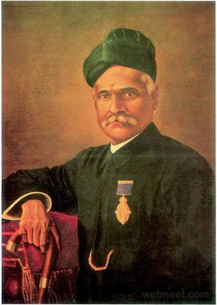 ravi varma self portrait