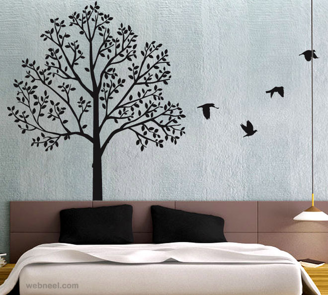 30 beautiful wall art ideas and diy wall paintings for. Black Bedroom Furniture Sets. Home Design Ideas
