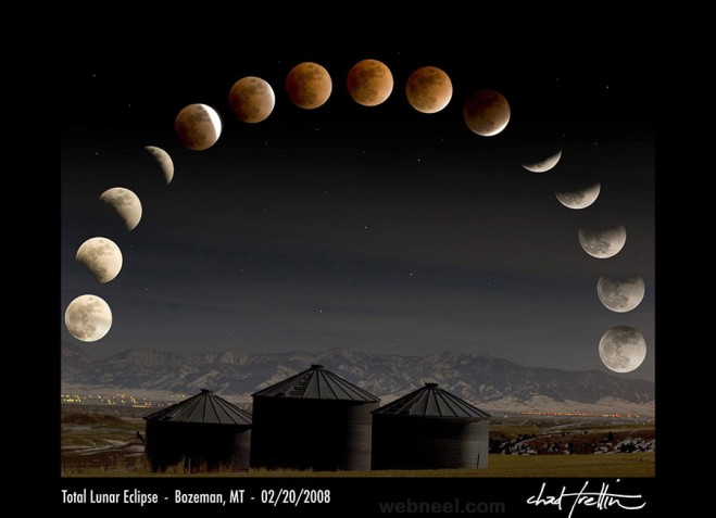 time lapse Lunar Eclipse