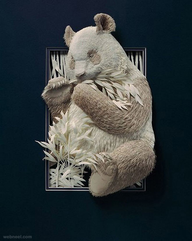 paper sculpture bear