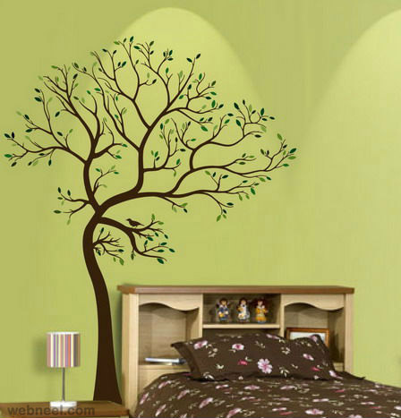 wall decals art ideas butterfly music design - Artistic Wall Design