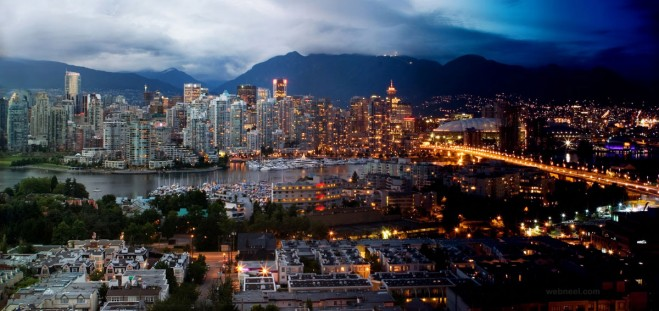 hdr time lapse photography city