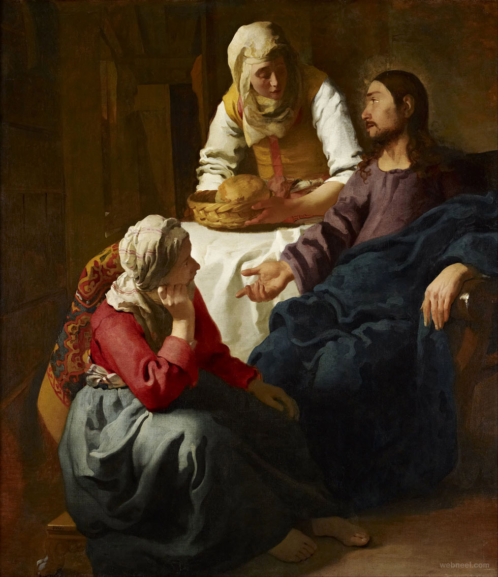 vermeer christ martha mary painting
