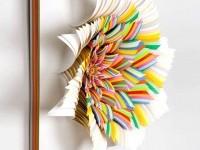 colorful-paper-sculpture