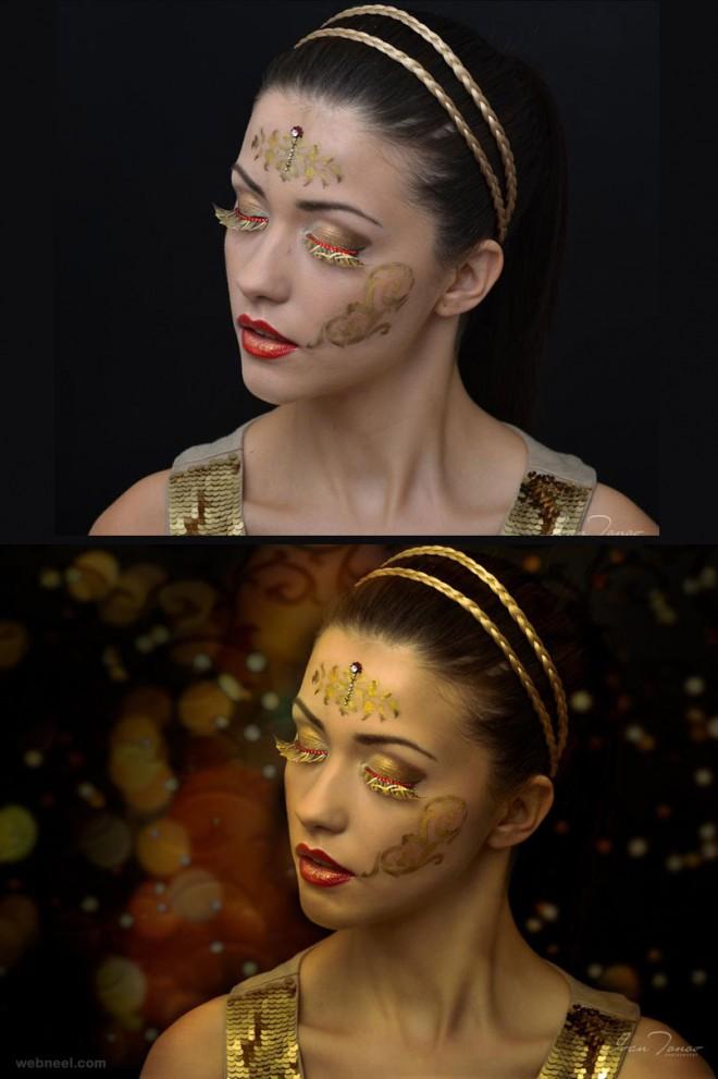 photo retouching gold
