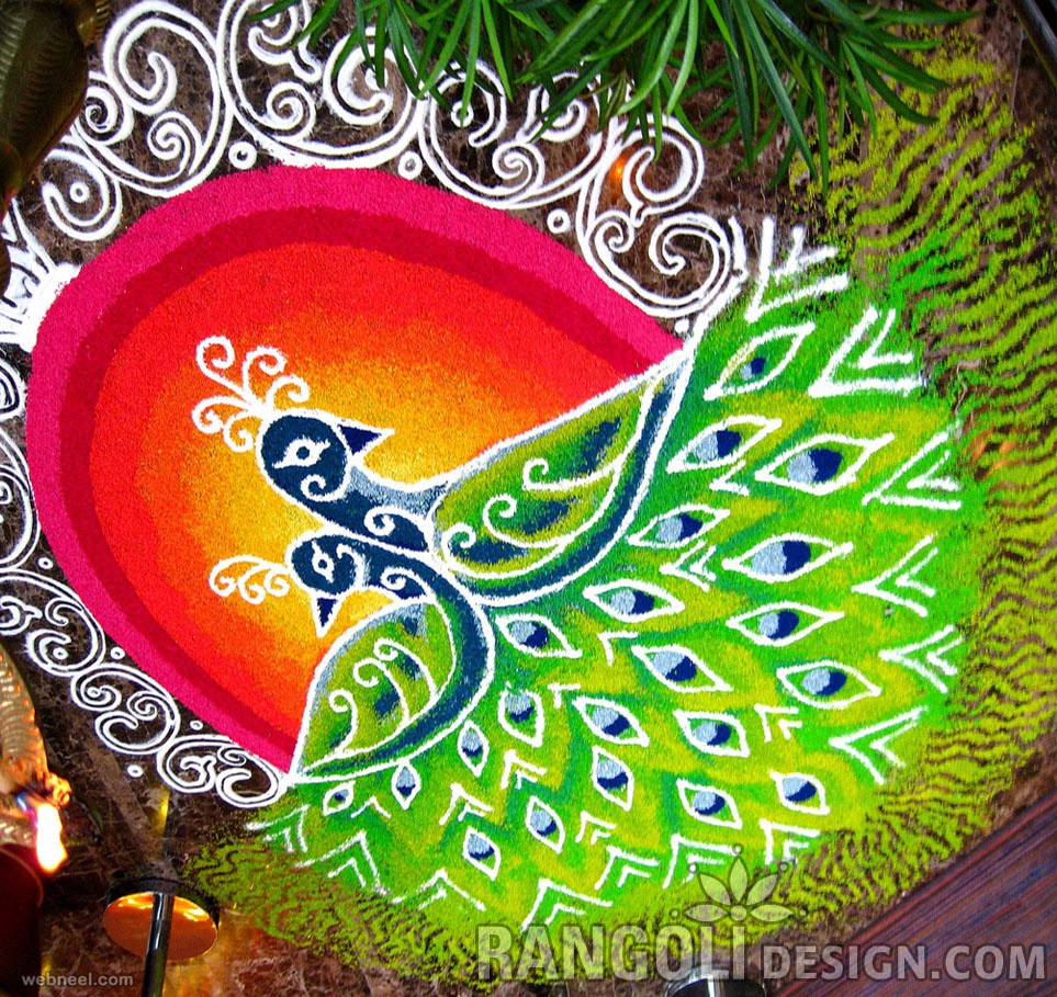 Happy diwali rangoli images