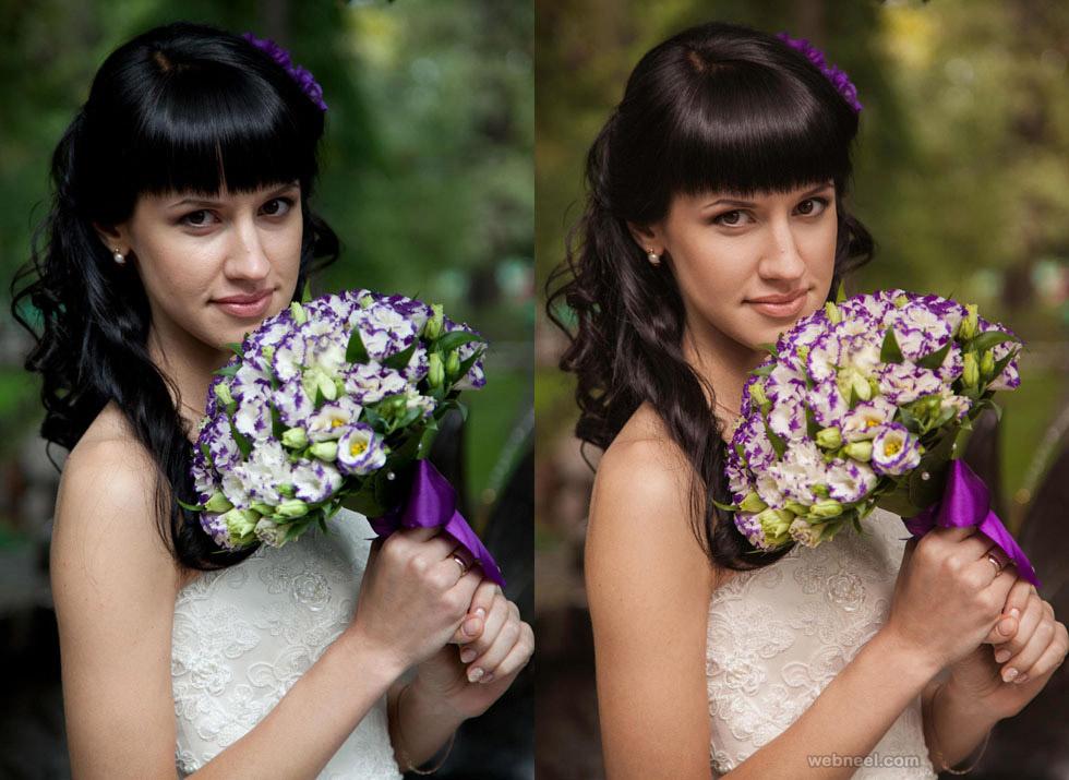 bride photo retouching