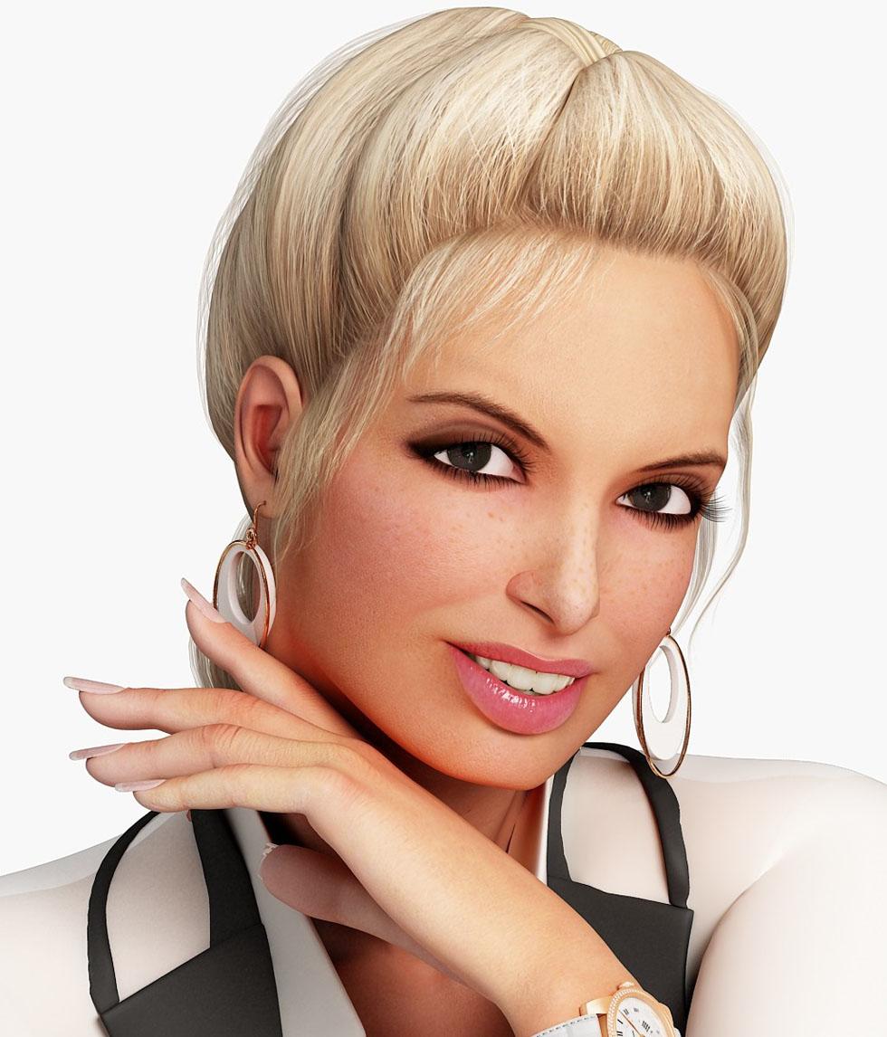 3d woman model