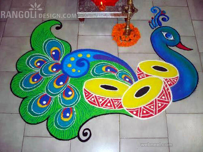 Muggulu new year 2015 colorful rangoli designs youtube - Gallery For Gt Easy Rangoli Designs For Diwali
