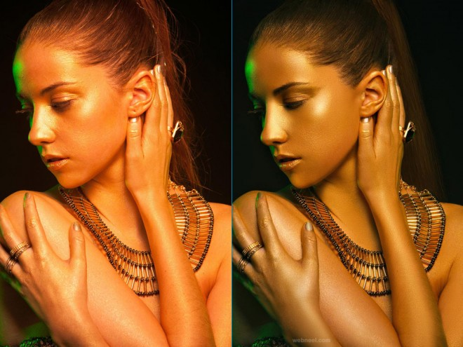 skin photo retouching