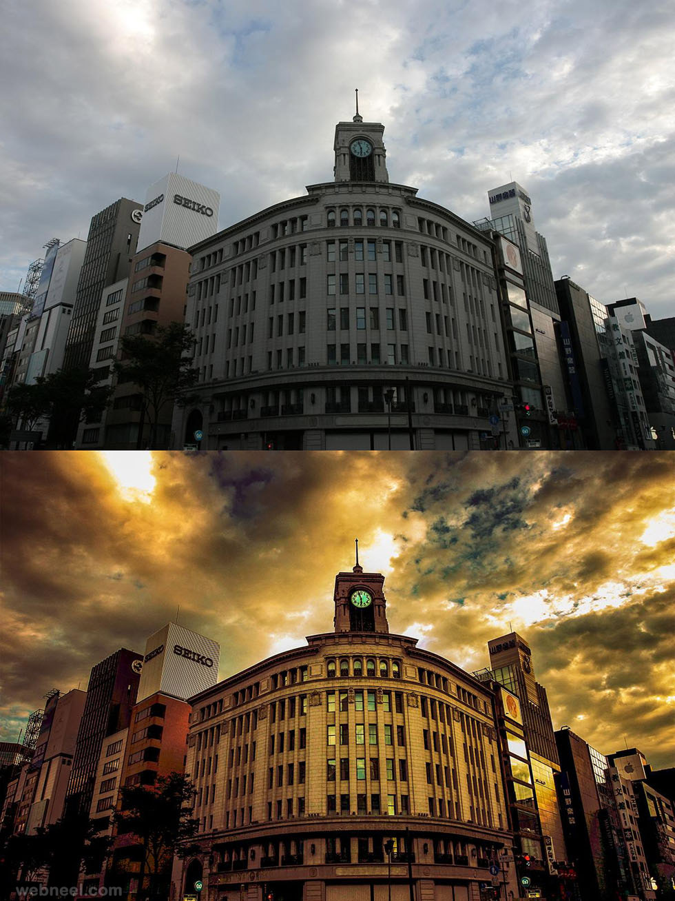 building photo retouching by phowd