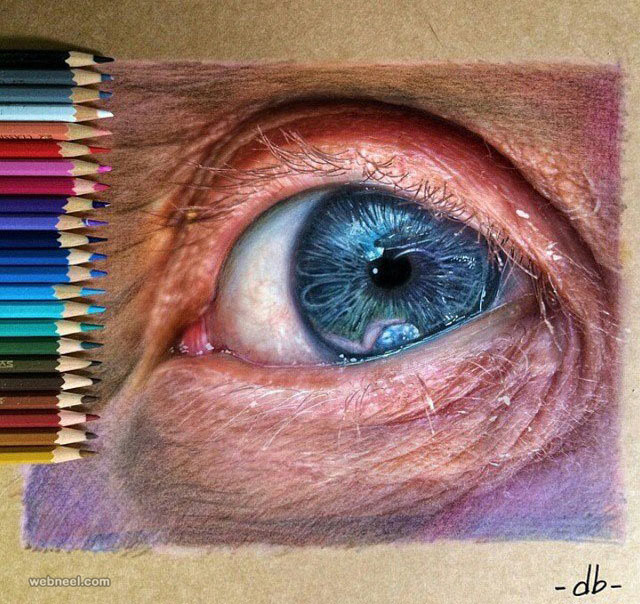 drawing of eyes by dribblack