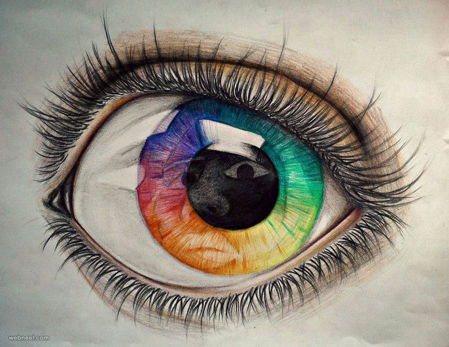 drawing of eye by actilluk marinou