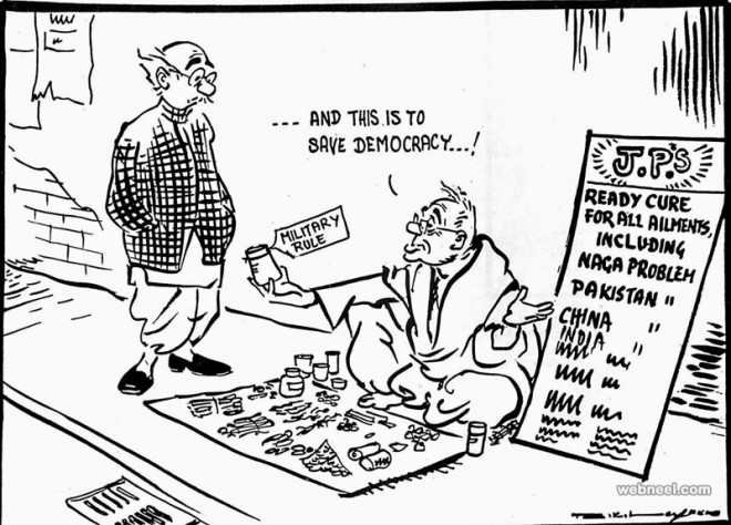 Best Editorial Cartoons By Famous Indian Cartoonist RK Laxman - 10 famous cartoons characters drawn 10 different cartoonists