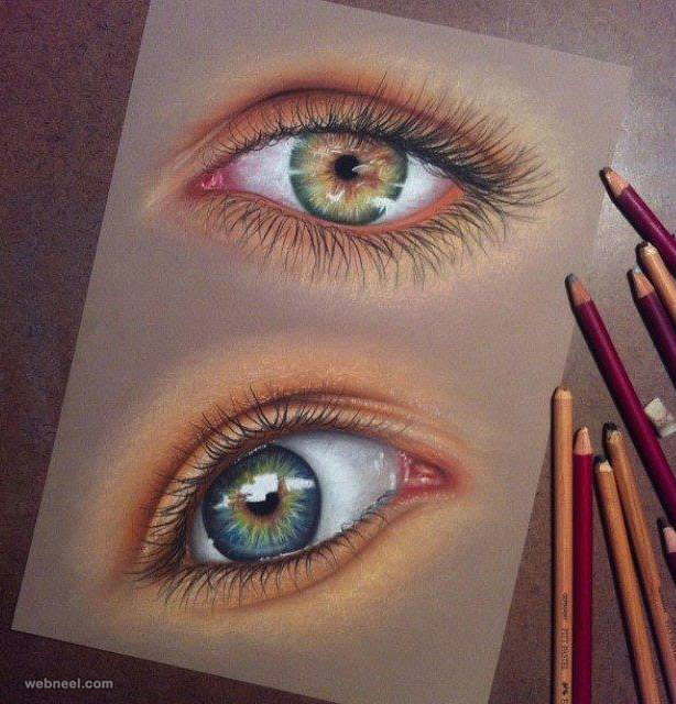 drawing of eyes pam slatts