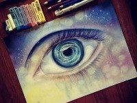 eye pencil drawing by Ester R