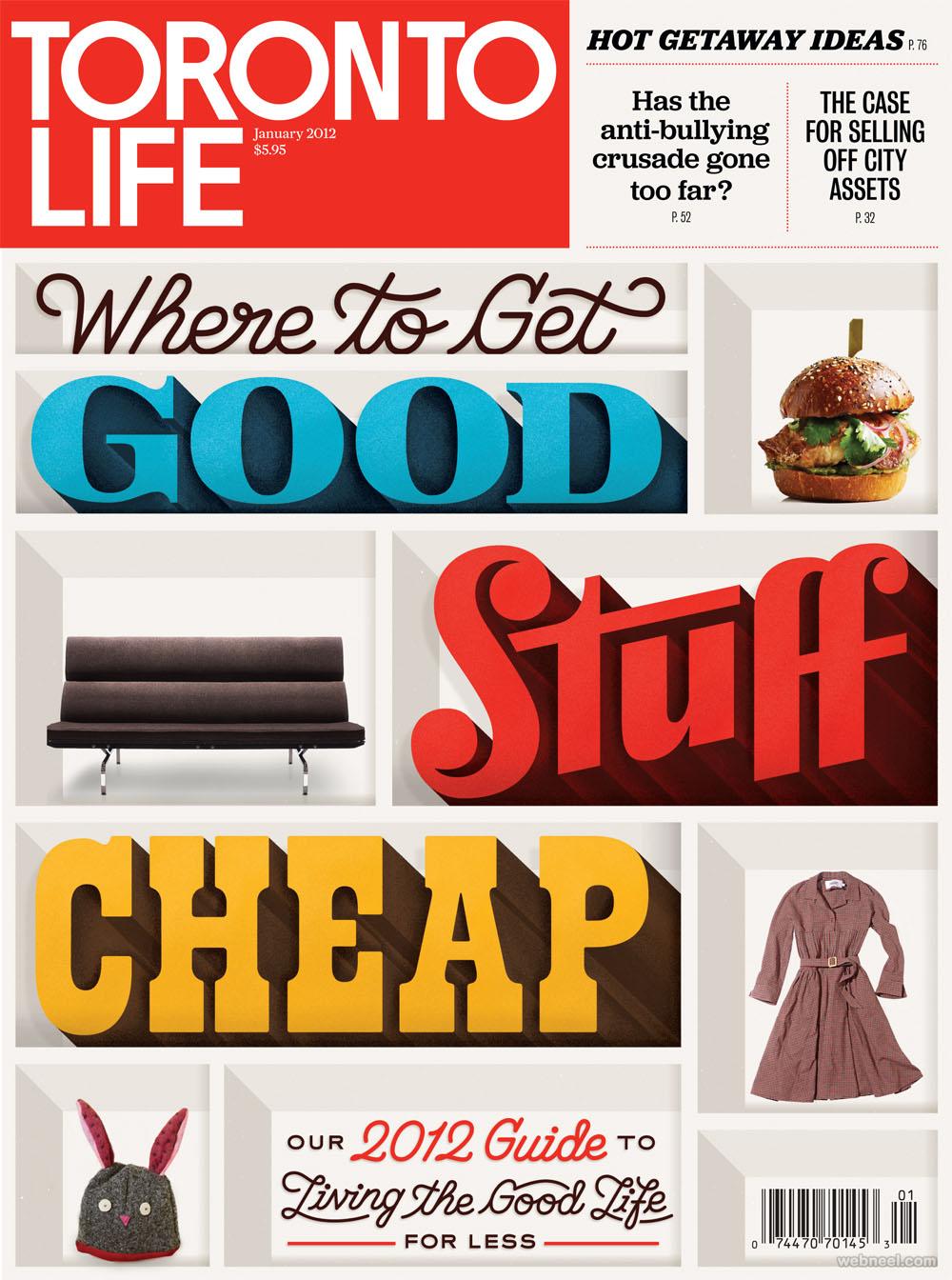 toronto life typography design