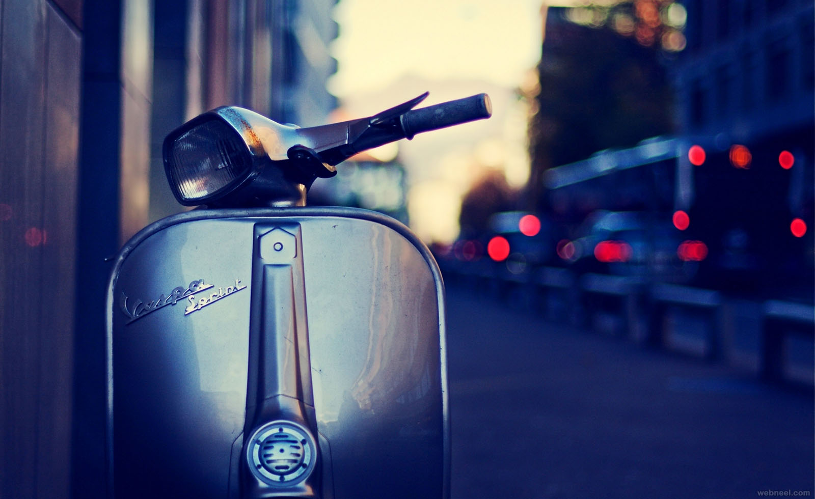 old scooter vintage photography