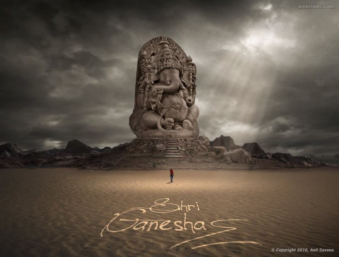 lord ganesh photo manipulation by anil saxena