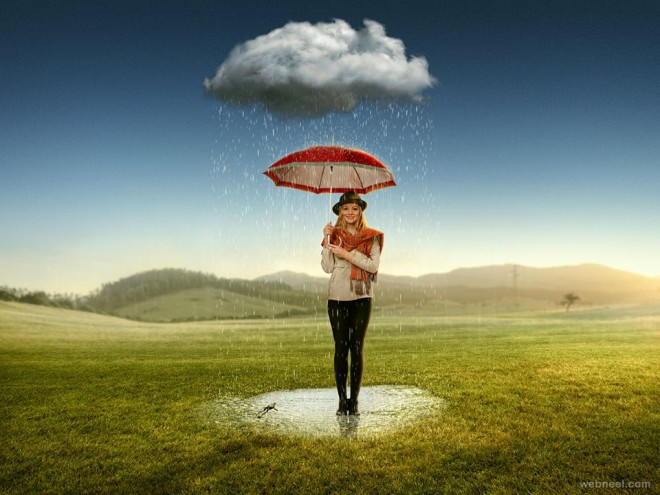 rain photo manipulation by anil saxena