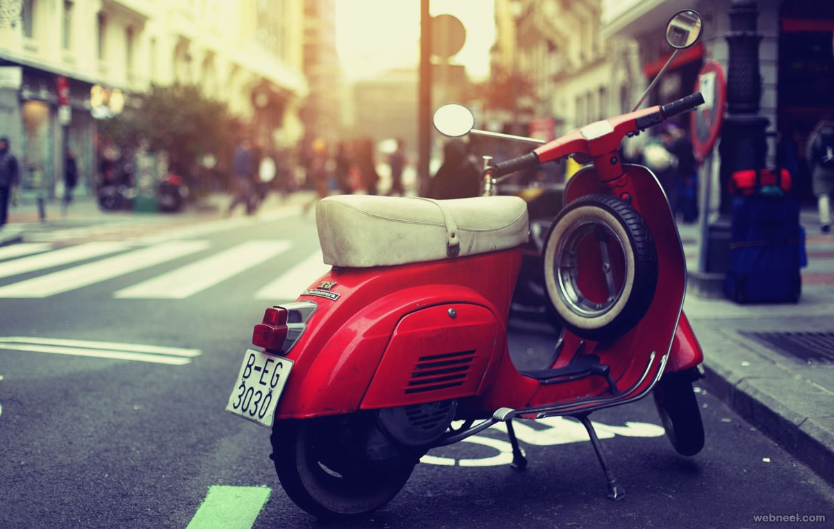 scooter vintage photography