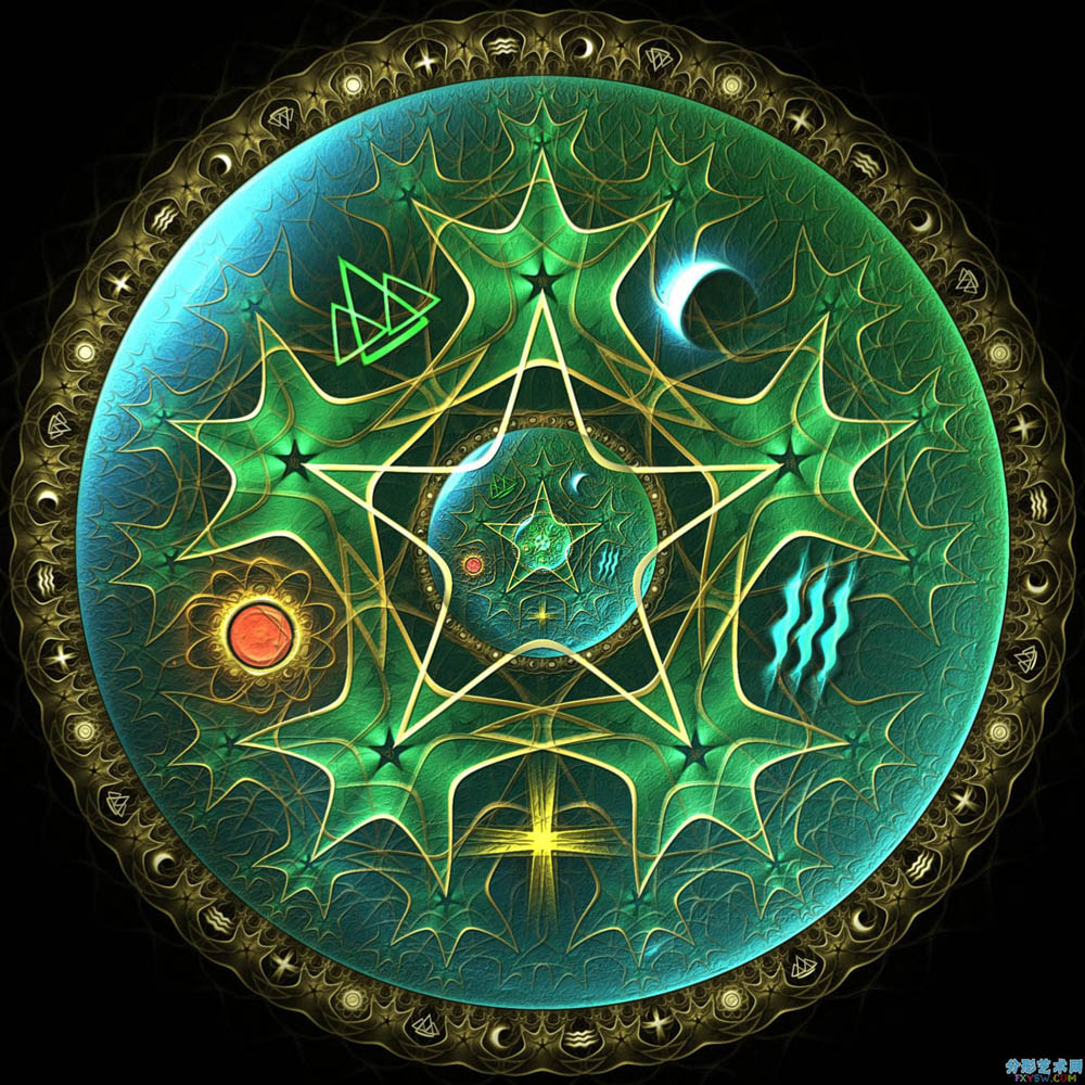 12-pentacle-digital-art-by-fractist