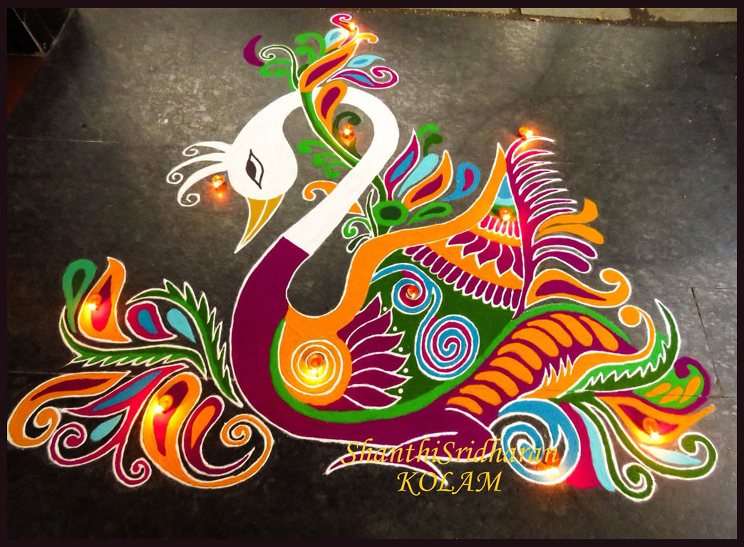 diwali rangoli design by shanthisridharan