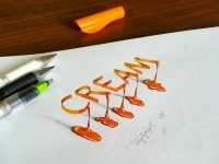 4-cream-3d-calligraphy-by-tolga-girgin