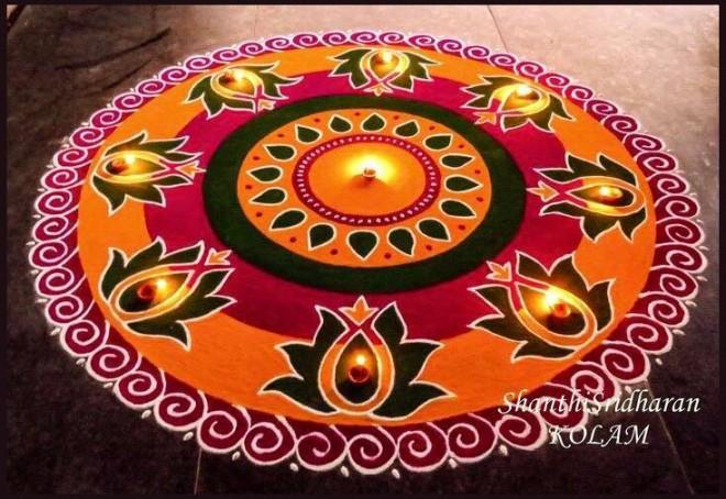 rangoli design by shanthisridharan