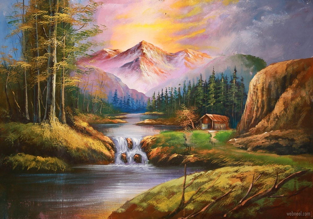 landscape oil painting scenery