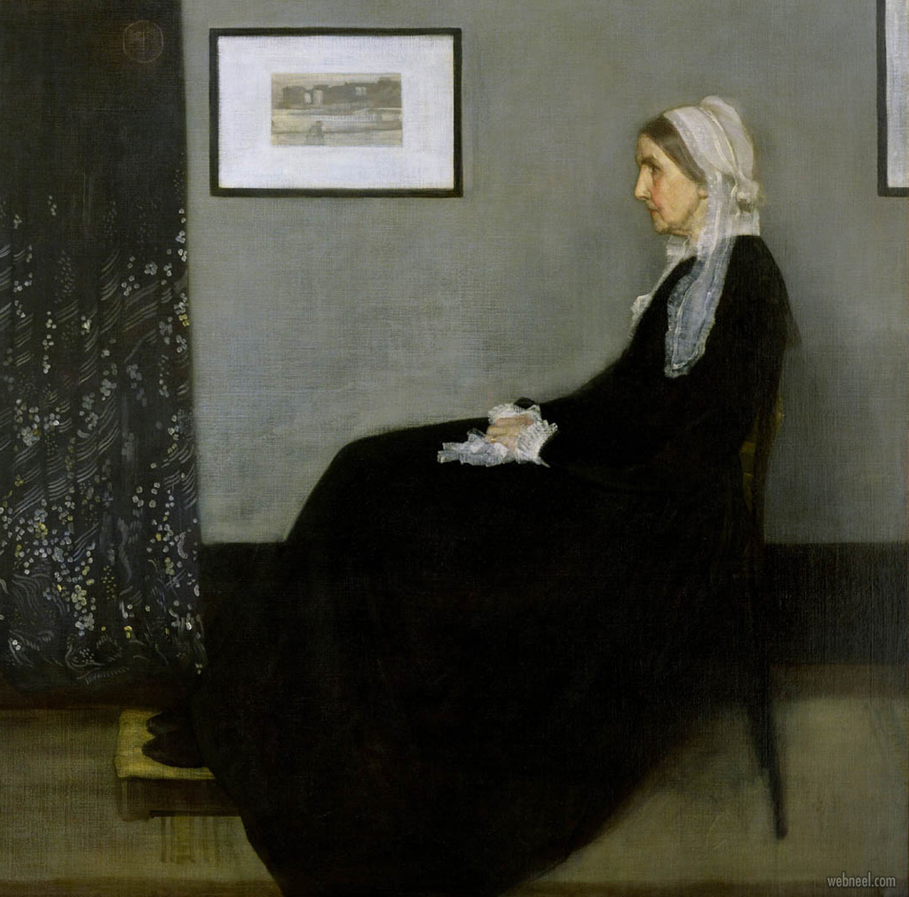 famous oil painting whistlers mother by james mcneil whistler