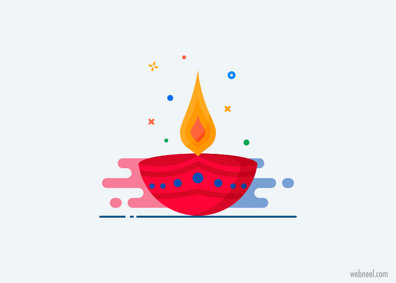 happy diwali greeting card by jemis mali