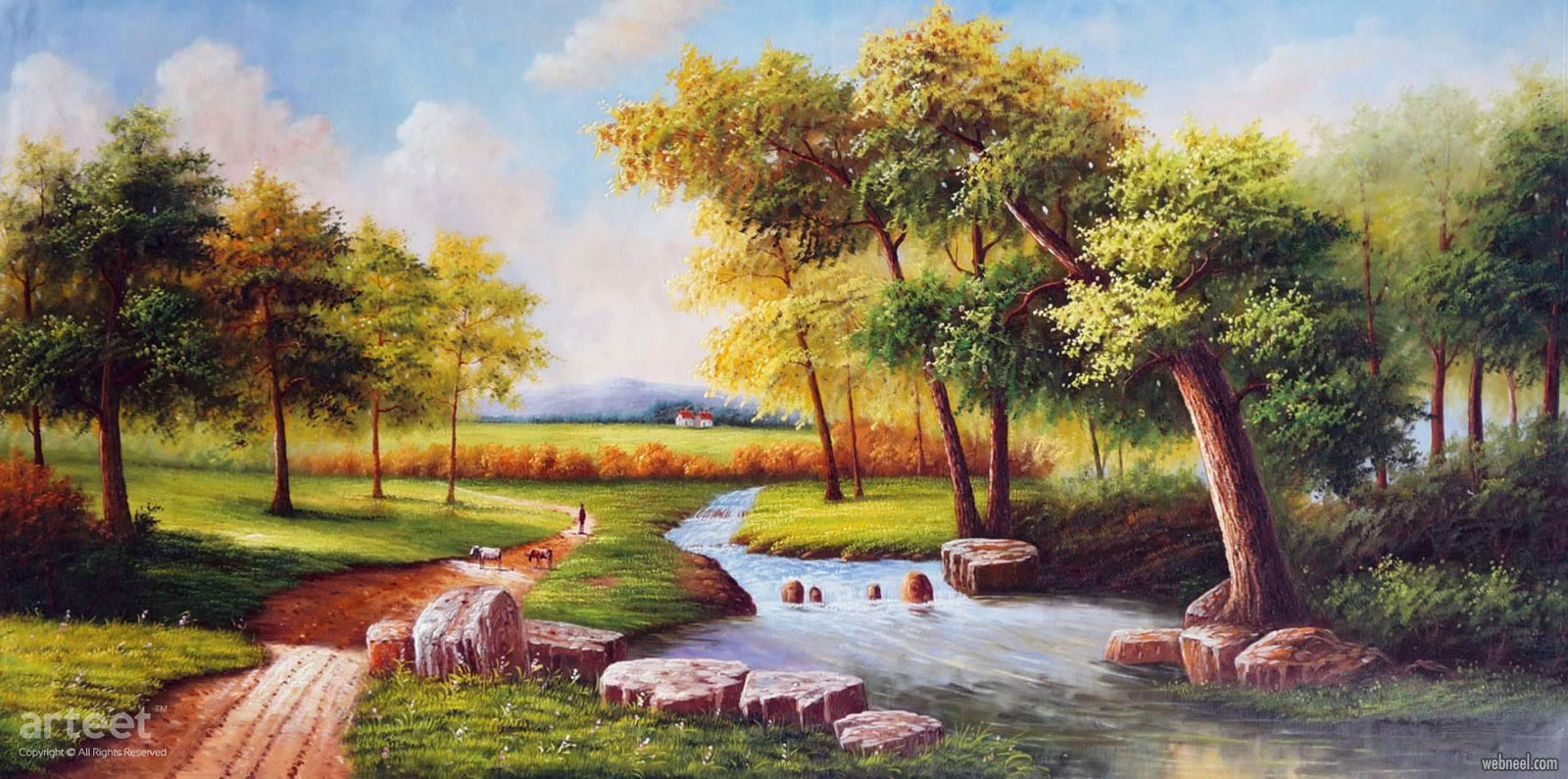 landscape artwork oil painting scenery by arteet