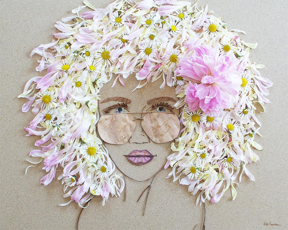 flowergirl flower art portrait