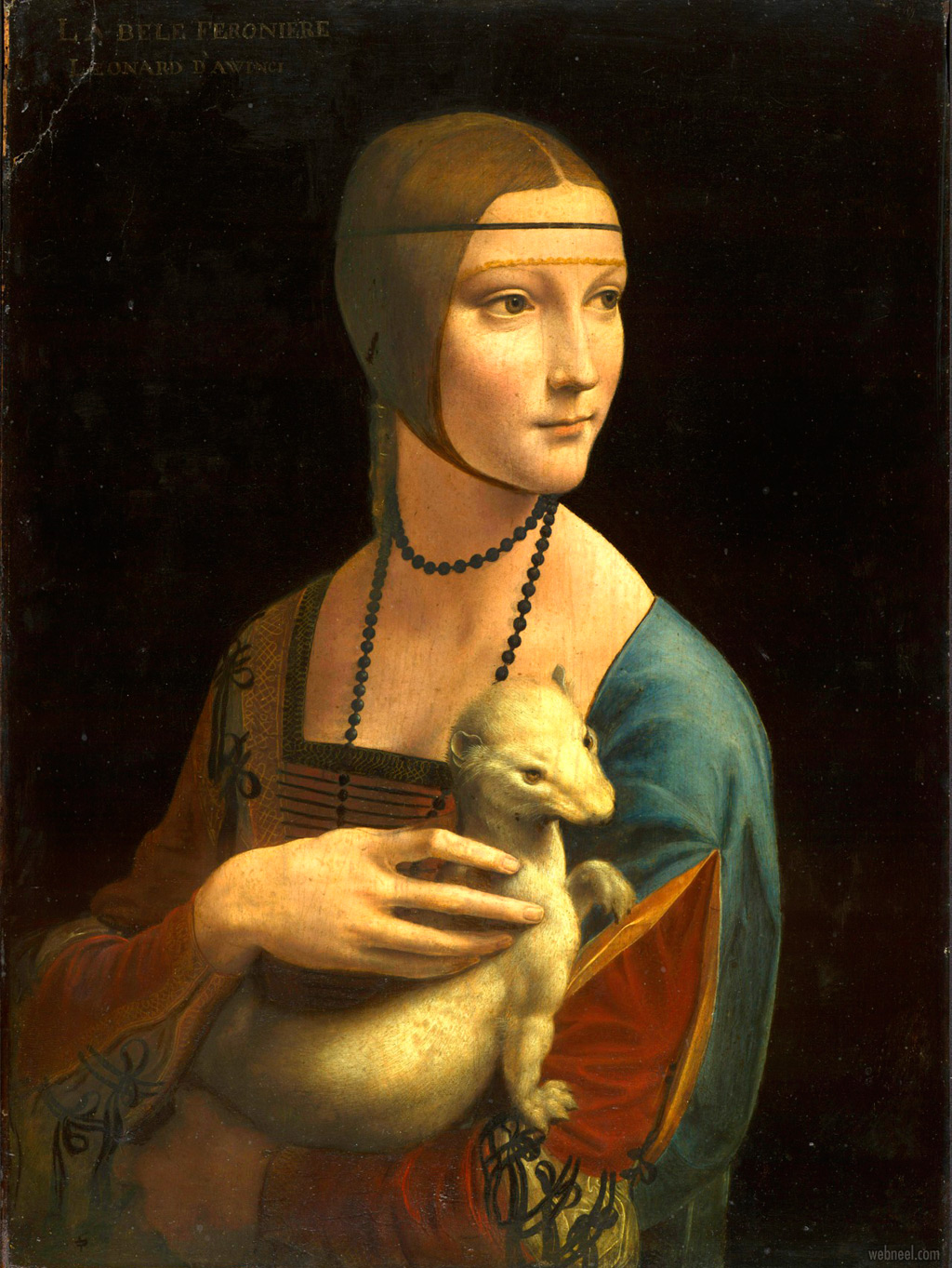 famous oil paintings lady with an ermine