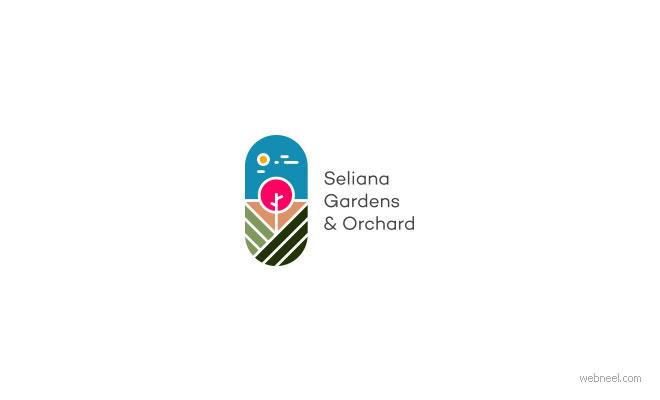 logo design garden by alamacreative