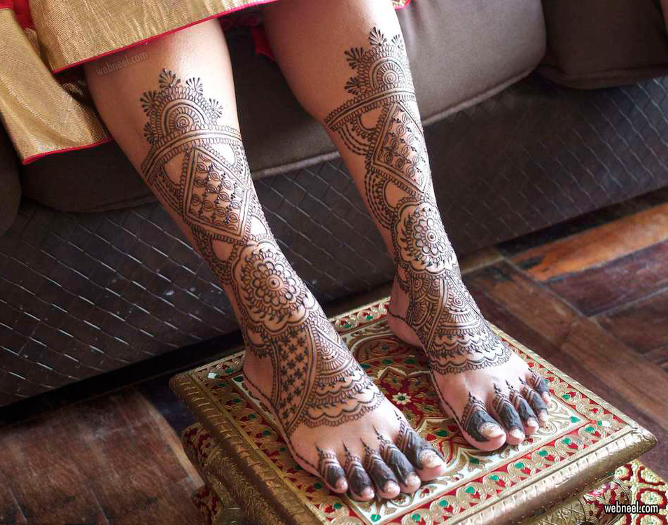 mehndi design leg foot by darcy vasudev