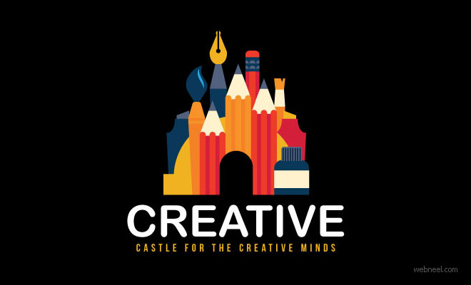 best logo design creative castle by scredeck
