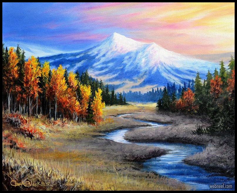 landscape oil painting by chuckblackart